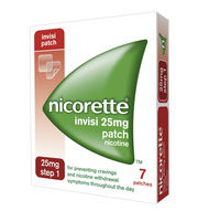 5x Nicorette Invisi 25mg Patch Nicotine 7 Patches