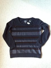 new wit tag WOMENS NEXT SWEATSHIRT - BLACK SIZE 8