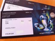 2012 Champions League Final Munich Tickets( Chelsea VS Bayern Munich)
